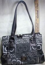 Liz Claiborne Fabric & Faux Leather Shoulder Bag