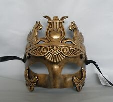 Mens Egyptian/Roman/Venetian Masquerade Gold Face Party Mask *NEW*