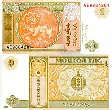 Mongolia 1 Tugrik Banknote World Paper Money Unc Currency Pick p61Ab Bill Note