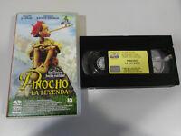 PINOCHO LA LEYENDA STEVE BARRON MARTIN LANDAU - VHS EDICION ESPAÑOLA &