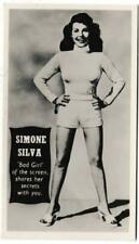 More details for titbits - 'star cover girls' (1953) - card #3 - simone silva