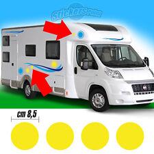 4 Adesivi stickers camper per kit mod 3 - cm 8,5 - ADRIA ARCA BURSTNER CARTHAGO