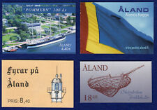 More details for aland, stamp booklet x4, lighthouses, ships, flags, pommern, mnh (ref. t2940)