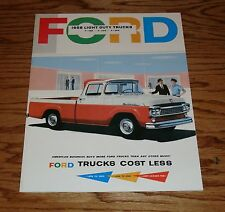 1958 Ford Light Duty Truck F-100 F-250 F-350 Sales Brochure 58