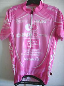 WOMENS MEDIUM BERGAMO CAPO BREAST CANCER RACE FIT HALF ZIP CYCLING JERSEY-LNWOT