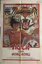 Tiger From Hong Kong Movie Poster Original One Sheet Pin-up Karate Martial Arts