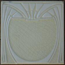 GERMANY - VILLEROY & BOCH - ANTIQUE ART NOUVEAU MAJOLICA TILE C1900