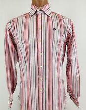 Men's BURBERRY London Designer Striped Long Sleeve French Cuff  Shirt Size 15 38