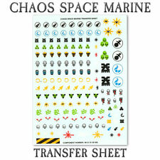 Warhammer 40k Chaos Space Marine Large Infantry / Vehicle Decal Transfer Sheet