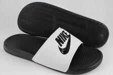 best website a180c e4e26 Nike Benassi Jdi Blanco Negro Deporte Sandalias diapositivas Swoosh tamaños  de EE. UU.