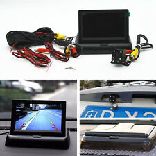 "Car Rear View CCD 4 LED Night Vision Camera & 4.3"" Foldable LCD Display Monitor"