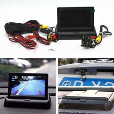 """Car Rear View CCD 4 LED Night Vision Camera & 4.3"""" Foldable LCD Display Monitor"""