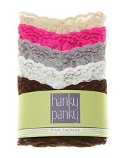 Hanky Panky Signature Lace low Rise Thong 5-Pack Classic Collection