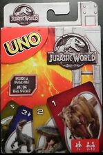 Jurassic World UNO Card Game BRAND NEW Mattel Games 2-10 Players Full Deck