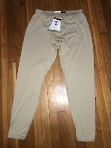 NWT Mens POLARTEC Power Dry Long Johns Thermal Pants Cold Weather Large Light Wt
