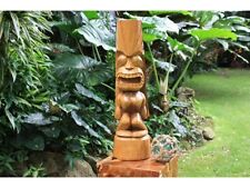 "26"" PREMIUM Hawaiian Love Tiki Statue. Outdoor Totem. Tropical Sculpture"
