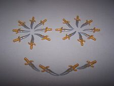lego LOTR minifigure ELF KNIFE blade gold castle hobbit elves weapon sword lot