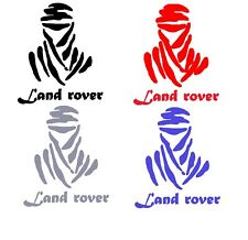 2 x DAKAR LAND ROVER CAR BIKE STICKERS DECAL 200mm x 170mm IN VARIOUS COLOURS