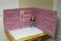 Brick Photo Sheets 1/10 Scale Action Figure Garage Diorama Dollhouse Accessories
