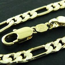 NECKLACE PENDANT CHAIN GENUINE REAL 18K YELLOW G/F GOLD SOLID ANTIQUE CURB STYLE