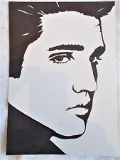 A4 Bolígrafo Marcador De Arte Dibujo cartel de Elvis Presley músico