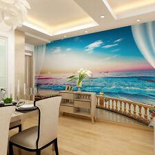 Sea Beach Skyline Photo Wallpaper Wall Paper Mural Sticker 3D Backgroun Art Deco