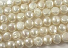 11-12 mm AAA Genuine Natural White Potato Freshwater Pearl Nugget Beads (#409)