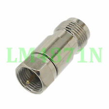 1pce Adapter TNC female jack to F TV  male plug RF connector straight F/M
