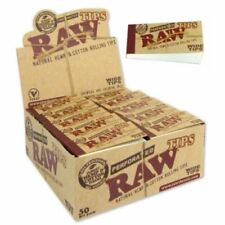 Raw Wide Filter Tips -  Hemp Cotton Fibres Chlorine Free 50 Perforated Booklets