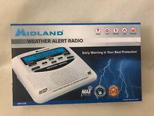 Midland NOAA Emergency Weather Alert Radio with Alarm Clock White WR120B New