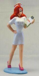 "Disney/Amblin: JESSICA (Who Framed Roger) RABBIT figure NURSE - superb  3.5"" PVC"