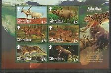 Gibraltar 2012 animales en peligro de extinción 2ND serie msheet SG, MS1482 u/Mm N/H Lote 3823A