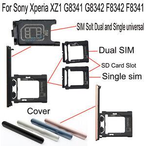 Original For Sony Xperia XZ1 G8341 G8342 F8342 F8341 SIM SD Card Tray Slot W Pin