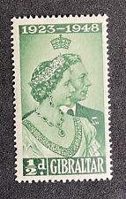 GIBRALTAR 25 Anniversary Of King George VI & Queen Elizabeth 1948 MNH