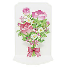 Pink Roses Bouquet For You Pop Up 3D Greeting Card