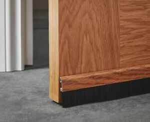 Diall Door Draught Excluder Wood Effect Self Adhesive 1m
