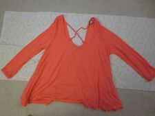 American Eagle Coral Oversize Blouse Top Lace Back Size XS