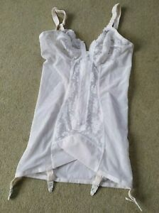 White corselette 38B