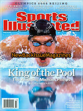 Sports Illustrated 8/08,Michael Phelps,Nelson Mandela,August 2008,NEW