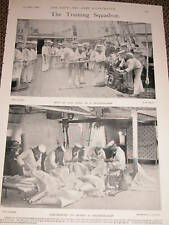 1899 NAVY TRAINING GUN DRILL & SAIL MAKING ARMY & NAVY