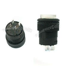 20 3A 250V AC SPST On/Off Self-locking 16mm Push Button Switch White Light 503AD