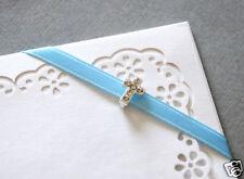 10 Cross Baby Christening Rhinestone Buckles for Wedding Invitation Cards