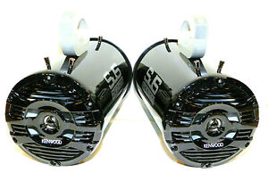 600 Watt Kenwood Marine Wakeboard Tower Speakers Black Glitter Gloss SJS Dezign