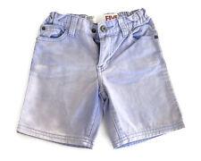 Cotton On Kids Boys Purple Wash Denim Shorts Adjustable Waist Size 5