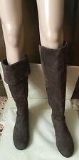 Suede boots MARINA RINALDI Woman, brown color, size 41 Stivali Donna, camoscio