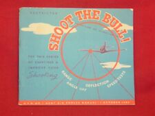 WWII US ARMY AIR FORCE FIGHTER PILOT SHOOT THE BULL RESTRICTED TRAINING BOOK