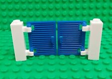 *NEW* Lego 4x2 Blue Saloon Swinging Doors Hinge Clips Houses Buildings 2 pieces