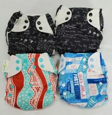 New ListingBoy's Bumgenius Cloth Diapers Pocket Style All In One Lot Of 4 Printed One Size