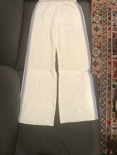 Loewe Mens Flared Knit Pants White With Blue Stripe Size S