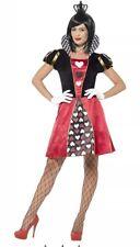 Alice In Wonderland Queen Of Hearts Ladies Fairytale Fancy Dress Size XS UK 4-6